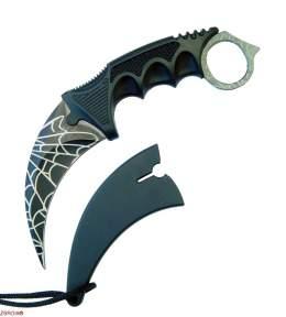 Нож CS GO Karambit Black Cobweb