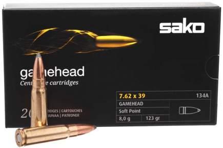 Патрон Sako Gamehead кал. 7,62x39 пуля SP, масса 8 гр/123 гран