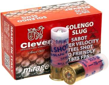Пулевой патрон Mirage Steel Sabot Slug кал. 12/70 масса 22.5 гр (подкалиберный)