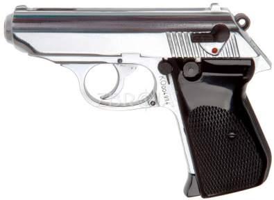 Шумовой пистолет Шмайсер ПСШ-790 (хром, 7 зарядный)