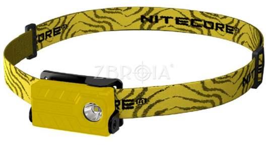 Фонарь налобный Nitecore NU20 (желтый)