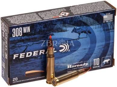 Патрон Federal Varmint кал. 308 Win пуля Hornady V-Max, масса 7.13 гр/110 гран