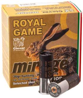 Патрон Mirage T4 Royal Game кал. 12/70 дробь №2, навеска 36 гр
