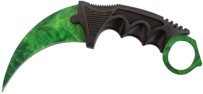 Нож CS GO Karambit Night Green