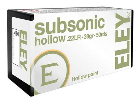 Патрон ELEY Subsonic Hollow кал. 22 LR