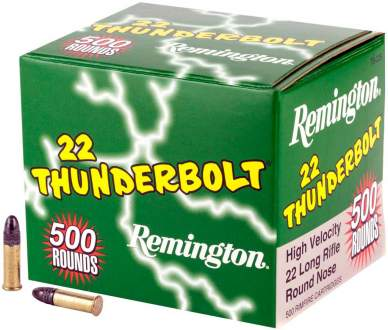 Патрон Remington Thunderbolt High Speed кал. 22 LR пуля RN, масса 2.59 гр/40 гран