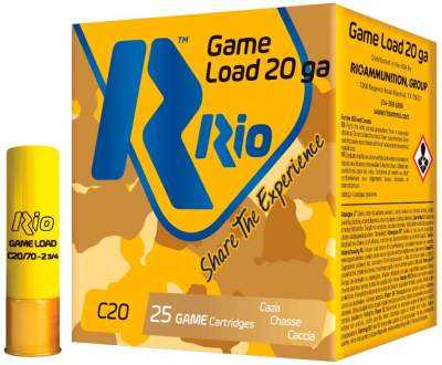 Патрон RIO Game Load C20 NEW кал. 20/70 дробь №3, навеска 28 гр