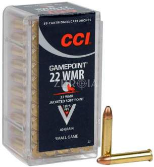 Патрон CCI GamePoint кал. 22 WMR пуля JSP, масса 2.59 гр/40 гран