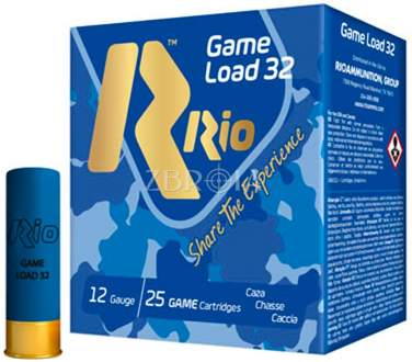 Патрон RIO Game Load-32 FW NEW кал. 12/70 дробь №2/0, навеска 32 гр