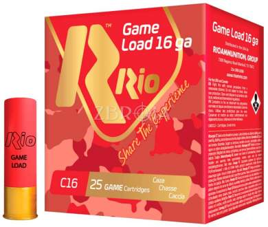 Патрон RIO Game Load C16 NEW кал. 16/70 дробь №4/0, навеска 28 гр